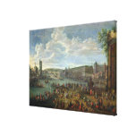 View of the Louvre and the Tour de Nesles Canvas Print