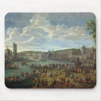 View of the Louvre and the Tour de Nesles Mouse Pad