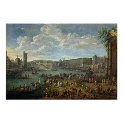 View of the Louvre and the Tour de Nesles Posters