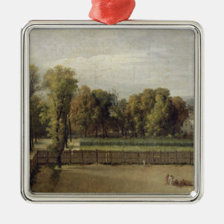 View of the Luxembourg Gardens in Paris, 1794 Square Metal Christmas Ornament