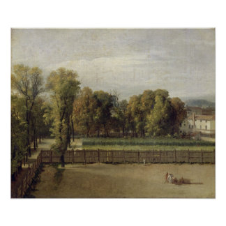 View of the Luxembourg Gardens in Paris, 1794 Poster