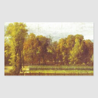 View of the Luxembourg Gardens in Paris by Jacques Rectangular Sticker