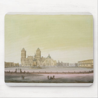 View of the main square in Mexico City (colour eng Mouse Pad