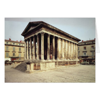 View of the Maison Carree, c.19 BC Greeting Card