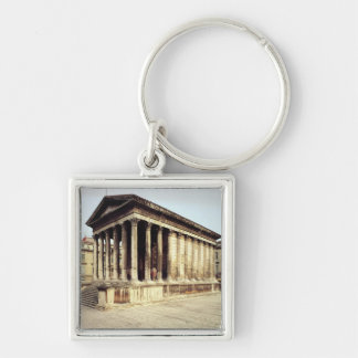 View of the Maison Carree, c.19 BC Keychain