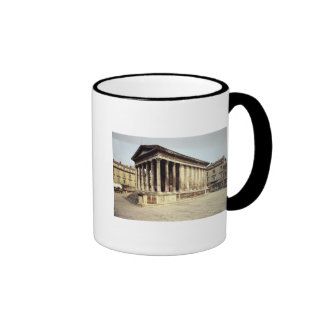 View of the Maison Carree, c.19 BC Ringer Coffee Mug