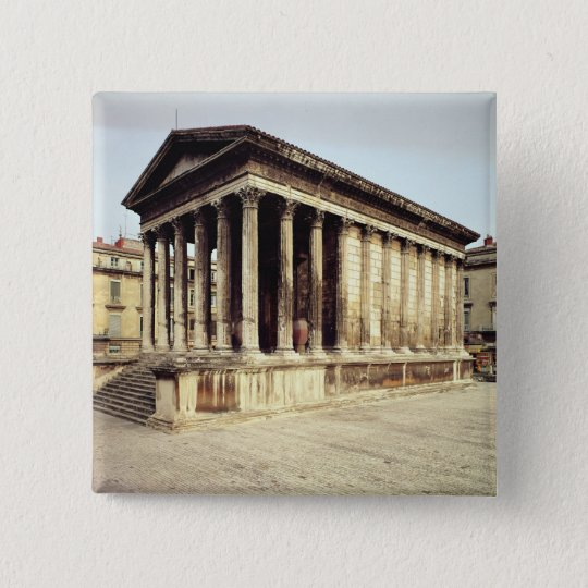 View of the Maison Carree, c.19 BC Pinback Button