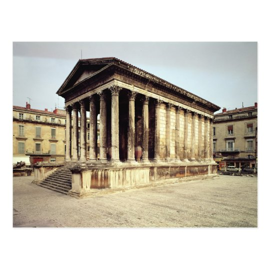 View of the Maison Carree, c.19 BC Postcard
