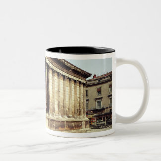 View of the Maison Carree, c.19 BC Two-Tone Coffee Mug