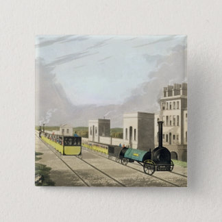 View of the Manchester and Liverpool Railway, take Pinback Button