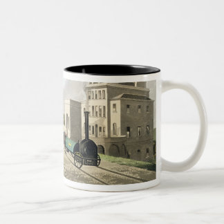 View of the Manchester and Liverpool Railway, take Two-Tone Coffee Mug