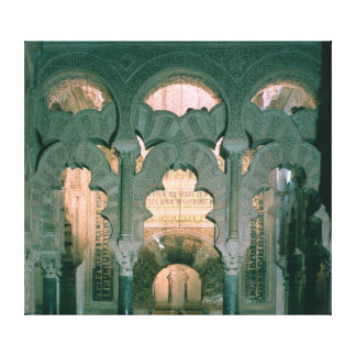 View of the maqsura and mihrab canvas print
