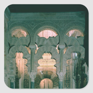View of the maqsura and mihrab square sticker