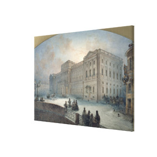 View of the Mariinsky Palace in Winter, 1863 Stretched Canvas Prints
