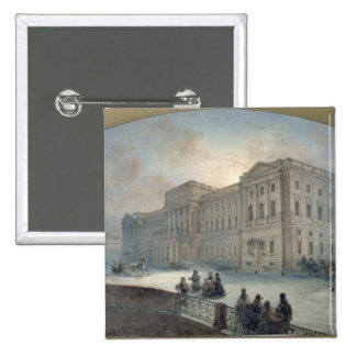 View of the Mariinsky Palace in Winter, 1863 Pinback Button