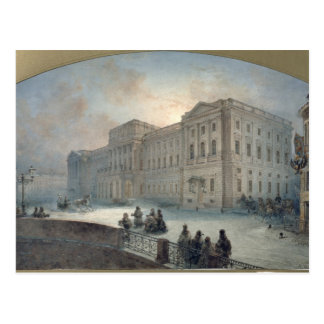 View of the Mariinsky Palace in Winter, 1863 Postcard