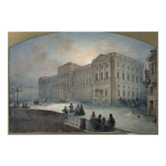 View of the Mariinsky Palace in Winter, 1863 Posters