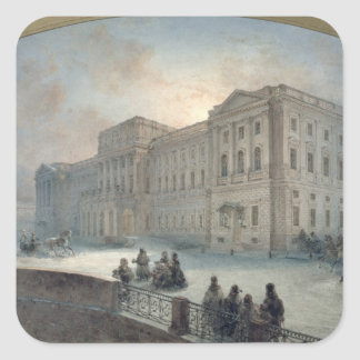 View of the Mariinsky Palace in Winter, 1863 Stickers