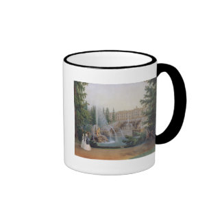 View of the Marly Cascade Mugs