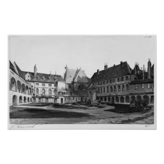 View of the Maternite Port-Royal the cloister Poster