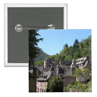 View of the medieval village photo pinback button