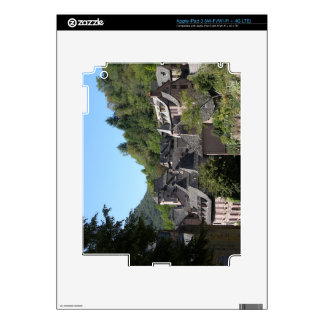 View of the medieval village (photo) skins for iPad 3
