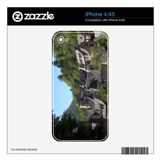 View of the medieval village (photo) skins for iPhone 4S