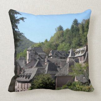 View of the medieval village (photo) throw pillow