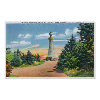 View of the Memorial Beacon Poster