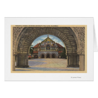 View of the Memorial Church, Stanford U. Card