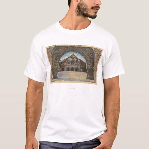 View of the Memorial Church, Stanford U. T-Shirt
