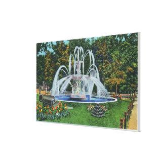 View of the Memorial Fountain, Vassar College Canvas Print