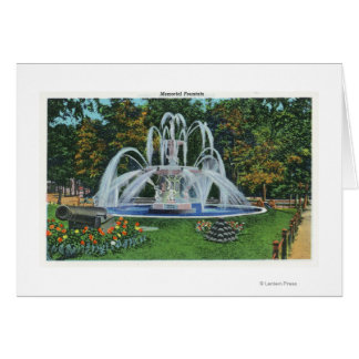 View of the Memorial Fountain, Vassar College Card
