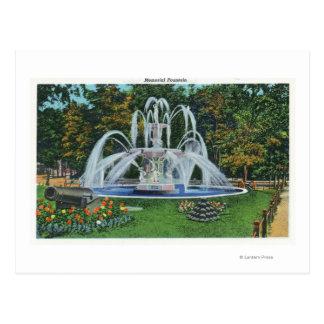 View of the Memorial Fountain, Vassar College Postcard