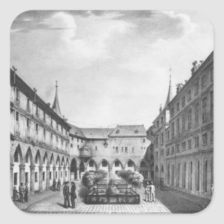 View of the Men's Yard at the Conciergerie Sticker