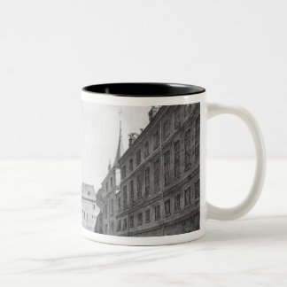 View of the Men's Yard at the Conciergerie Two-Tone Coffee Mug