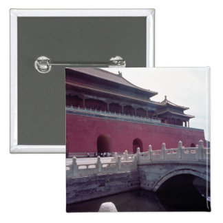 View of the Meridian Gate 2 Inch Square Button