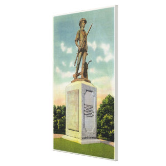 View of the Minute Man Statue Canvas Print