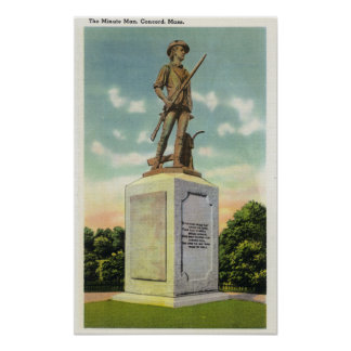 View of the Minute Man Statue Poster