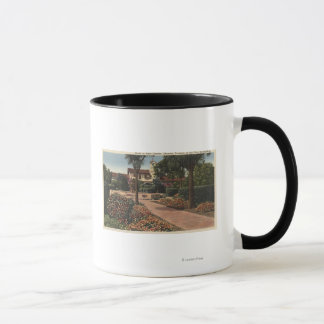 View of the Mission, Patio Gardens Mug