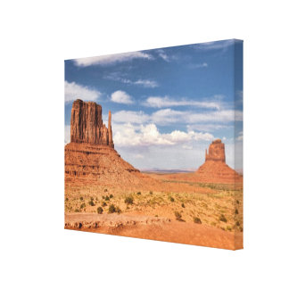 View of the Mittens, Monument Valley Canvas Print