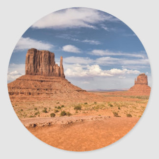 View of the Mittens, Monument Valley Sticker
