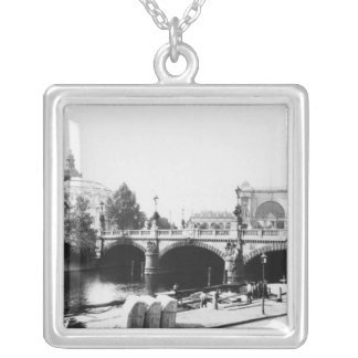 View of the Moltke Bridge Silver Plated Necklace