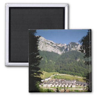 View of the monastery complex 2 inch square magnet