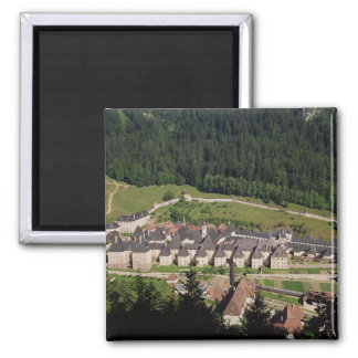 View of the monastery complex refrigerator magnet