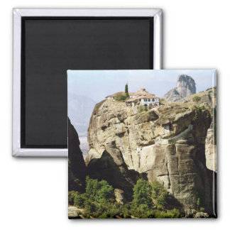 View of the Monastery of the Holy Trinity 2 Inch Square Magnet
