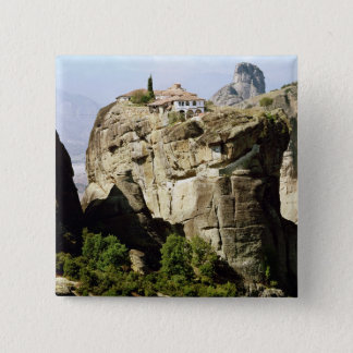 View of the Monastery of the Holy Trinity Pinback Button