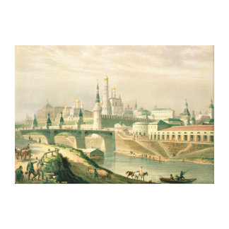 View of the Moscow Kremlin, 1830 Canvas Print