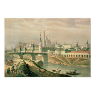 View of the Moscow Kremlin, 1830 Poster