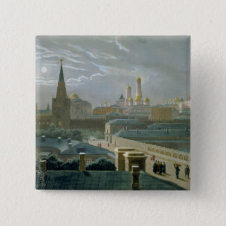 View of the Moscow Kremlin, 1840's Pinback Button